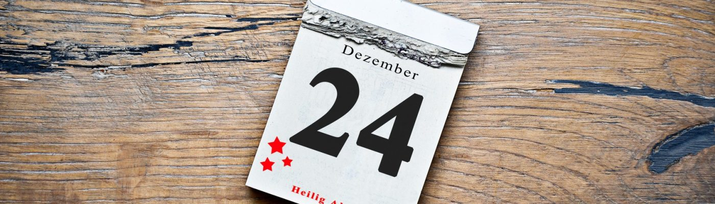 Kalenderblatt mit dem 24.12. als Datum